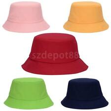 100% Cotton Adults Bucket Hat Summer Fishing Boonie Beach Festival Sun Cap