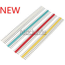 10pcs One Single Row 40Pin 2.54mm Straight Male Header Strip Socker Breakable MO