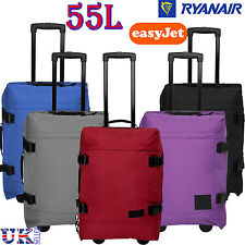 New 55L Cabin Hand Luggage Wheeled Suitcase Travel Bag Trolley Easyjet Ryanair