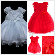 Infant Baby Girls Baptism Tutu Dresses Birthday Wedding Christening Party Gown