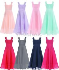 Flower Girl Chiffon Princess Dress Kids Party Pageant Wedding Bridesmaid Dresses