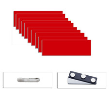 Blank Name Tags Packs 1 x 3 w/ Pins or Magnets -  Beveled Corners - Four Colors