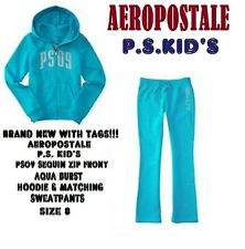 NEW GIRLS 2 PC AEROPOSTALE PS KIDS HOODIE & SWEATPANTS SET PS09 NEW YORK NY