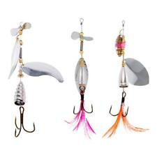 Life-like Fishing Lure Bass Spoon Spinner Hard Bait Fishing Hook Tackle Tool