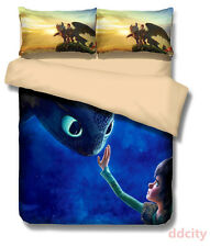 3D How to Train Your Dragon Bedding Set Duvet Cover Set Pillowcase Polyester