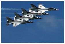 USAF Air Force Thunderbirds Tight Aerial Formation Silver Halide Photo