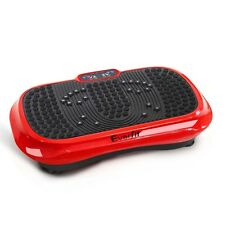 1000W Vibrating Plate Exercise Platform - Red