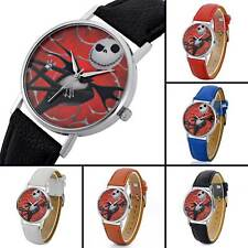 Mens Wristwatches Bands Nightmare Theme Quartz Watch Leather Womens Watches Lots