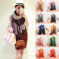 New Womens Long Candy Colors Soft Cotton Scarf Wrap Shawl Scarves Fashion Stole