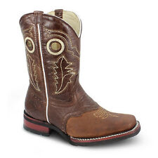 Kids Brown Rodeo Collection Western Leather Cowboy Boots BONANZA 3000 Size 7-1.5