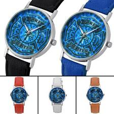 New US Fire Fighter Quartz Watch Leather Wristwatches Mens Watches Sport Gift