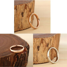 Gold/Rose Gold/Silver Stainless Steel Finger Rings Smooth Simple Men/Women Gift