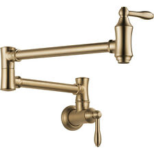 Delta Faucet 1177LF-CZ Traditional Pot Filler Wall Mount Champagne Bronze