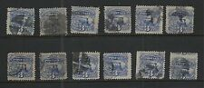 UNITED STATES SC#  #114 LOT OF (12)  PICTORIAL  SERIES 1869 ISSUE NICE CANCELS!!