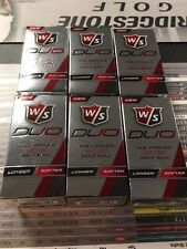 New 2016 Wilson Duo White Golf Balls 12 Balls(Dozen) 2 Ball Packs