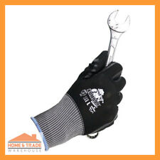 Work Safety Glove TGC Komodo Mechanic Hand Protection Strong Grip 2 Pair Nitrile