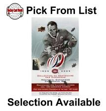(HCW) 2008-09 Upper Deck Montreal Canadiens NHL Centennial - You Pick From List