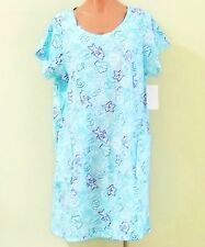NEW 100% Cotton Short Sleeve Sun Dress/ Beach Cover Up w/ 2 Pockets - Size L/XL