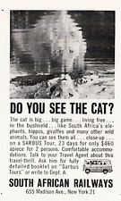 1962 South African Railways: Do You See the Cat (26470)