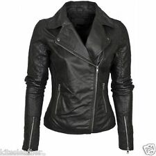 Leather Jacket Quilted New Motorcycle Lambskin Leather Coat For Women W- 664