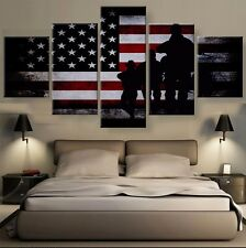 American Flag Picture Canvas Painting Abstract Poster Wall Modern Art Home Decor