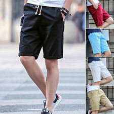 Stylish Mens Summer Casual Cotton Pants Baggy Shorts Cargo Beach Half Trousers