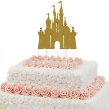 10 Pieces Glitter Castle Cupcake Picks Cake Toppers Party Decoration
