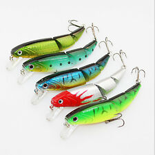 3 Sections Swimbait Jointed Minnow Fishing Lures Fish Hook Crankbait Fishing