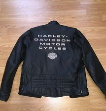 Kick Ass Harley Davidson Motorcyle Riding Jacket w/ Quilted Liner  Mens Small
