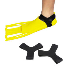 1 Pair Scuba Diving Snorkeling Rubber Fin Keepers Holder Y-Shape Strap Black