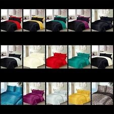 6 Pieces Luxury Satin Bedding Sets - Duvet Cover + Fitted Sheet + Pillowcases
