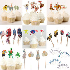 24 Assorted Style Paper Cupcake Cake Topper Picks Party Cake Decoration
