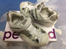 Pediped Flex White Machine Washable Sandal Sneaker Size 27 /US Toddler Size 10.5