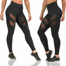 Women Fashion Running Sport Pants Sexy Tight Mesh Leggings Stretch Trousers