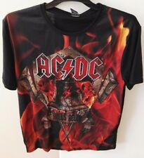 """AC/DC """"Hells Bells"""" mens t-shirt, licensed, polyester/cotton, new"""