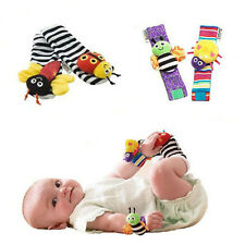 Hot  New Baby Infant Cute Bug Finders Toys Wrist Watches Foot Socks Rattles 0+