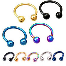 1x Pretty Fake Nose Ring Lip Ear Nose Clip Fake Piercing Nose Lip Hoop Earring G