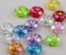 100Pcs Butterfly Mixed Plum flower Spacer Beads Charms 11x4mm