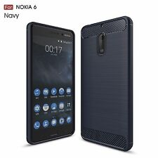 For Nokia 3/5/6 NEW Carbon Fiber Soft TPU Phone Back Protective cover Case