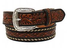 Ariat Western Mens Belt Leather Embossed Horse Hair Brown A1024267