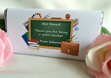 Personalised Teacher Chocolate Bar Wrapper, Personalised Teacher Gift