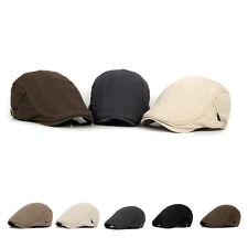 Sun Flat Peaked Cabbie Gatsby Driving Hat Newsboy Beret Cotton Ivy Cap