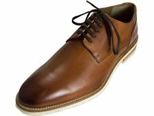 NIB Bacco Bucci Perse Leather Lace Up Oxford Dress Shoes in Cognac