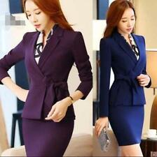 OL Formal Work Professional Career Business Lady Blazer & Skirt Suits 2pc Size S