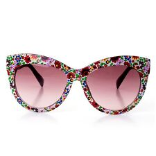 Women Sunglasses Professional Small Floral Frame Lens Seaside Vacation Glasses
