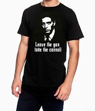 """The Godfather """"leave the gun  take the cannoli""""  Mens Black T Shirt"""