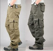 Mew Mens Casual Overalls Loose Straight Cargo Pants Military Outdoor Trousers 73