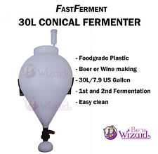 US Made 30L/7.9 Gallon HDPE FastFerment Conical Fermenter Kit