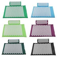 Acupressure Mat Pillow Set Meditation Yoga Spike Massage Massager Cushion Relax