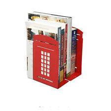 2PCS/Set Creative Metal Book Clip Book Stand Telephone Booth Iron Bookends New